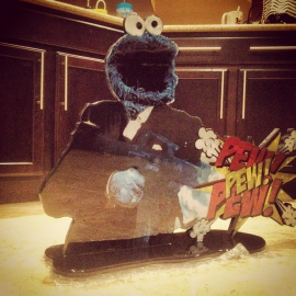 Cookie Mobster Cutout