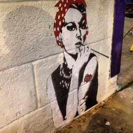 Rosie Golightly Wheatpaste